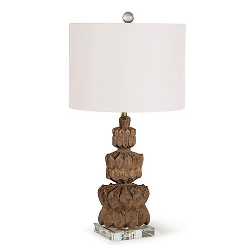 Ravi Table Lamp, Brown