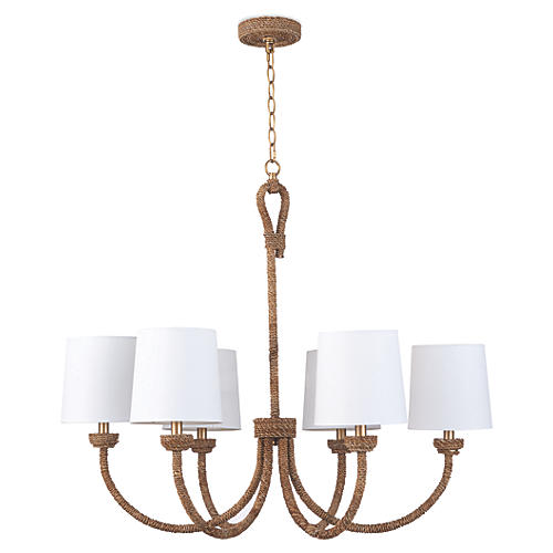 Bimini Chandelier, Natural