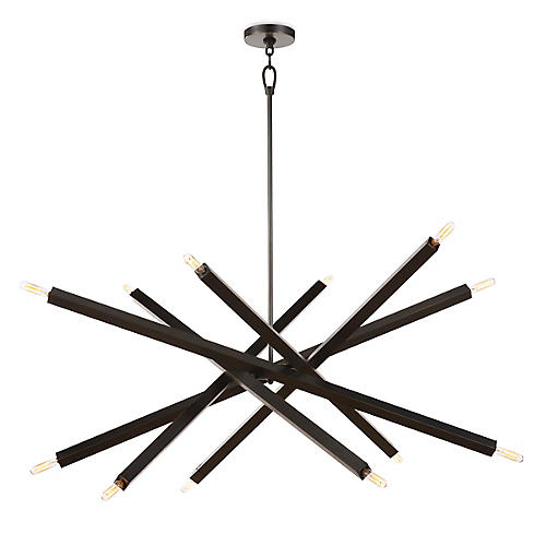 Viper Chandelier, Oil Rubbed Bronze