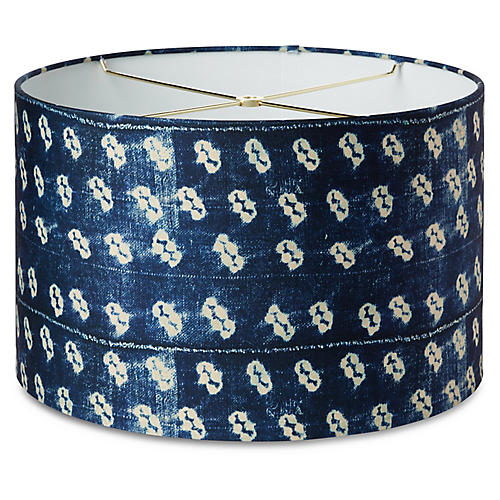 Lola Lamp Shade, Washed Navy