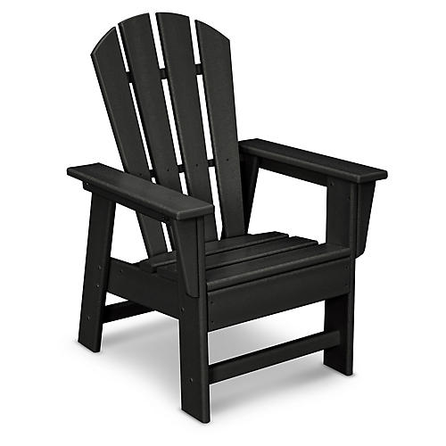 Kids' Adirondack Chair, Black