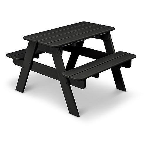 Kids' Picnic Table, Black