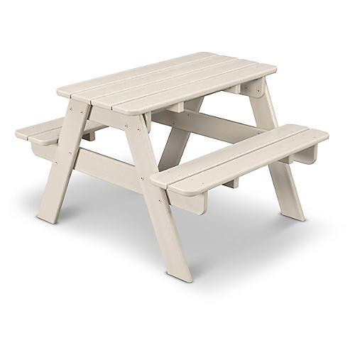 Kids' Picnic Table, Sand