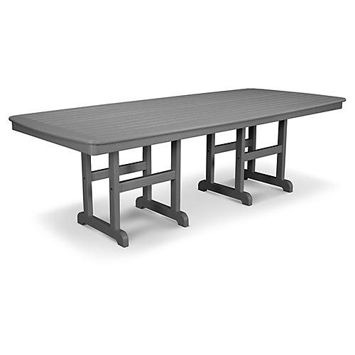 Nautical Dining Table, Slate Gray