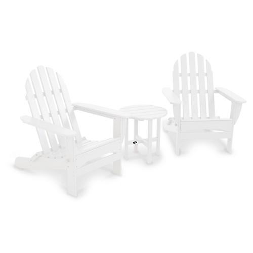 Classic 3-Pc Adirondack Set, White
