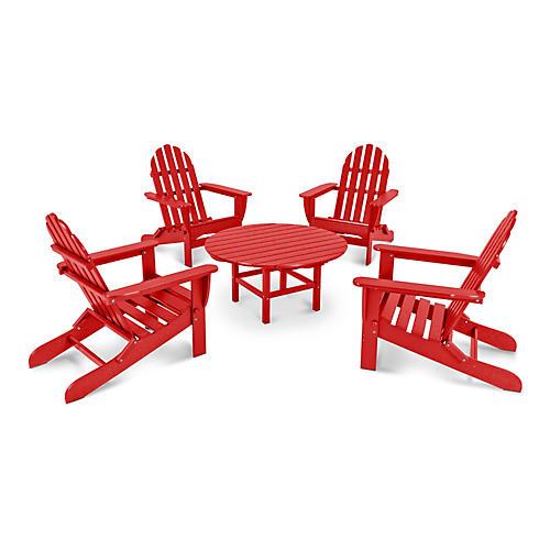 Classic 5-Pc Adirondack Set, Red