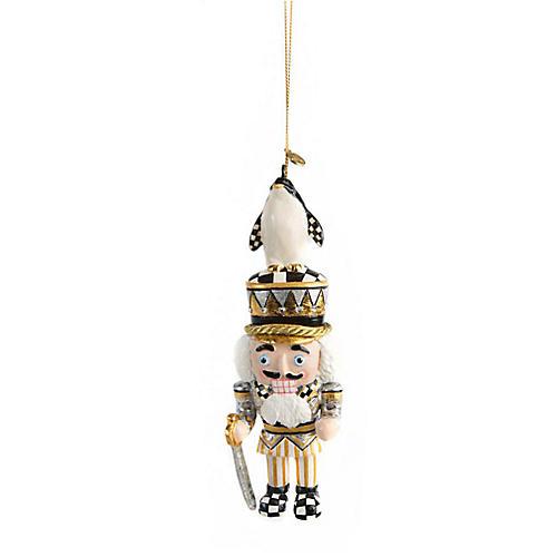 Penguin King Nutcracker Ornament, Gold/Multi