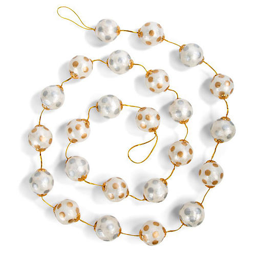 """72"""" Silver Lining Garland, Faux"""