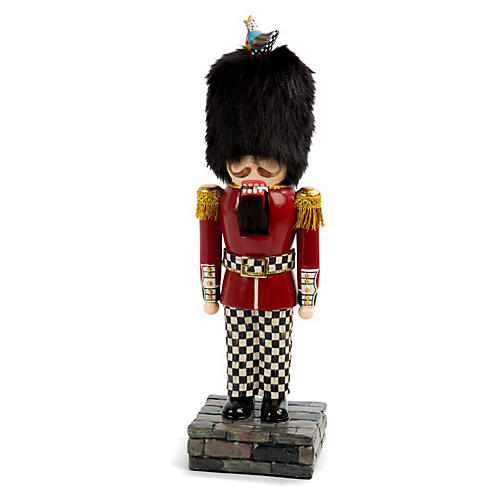 "14"" Buckingham Nutcracker, Red/Black"