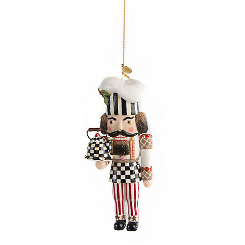 Baker Nutcracker Ornament, Multi