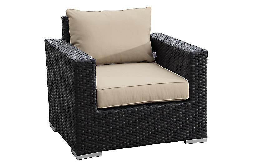 Solana Club Chair, Sunbrella, Beige