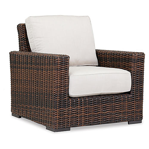 Montecito Club Chair, Canvas Flax