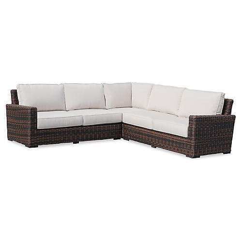 Montecito Sectional, Canvas Flax