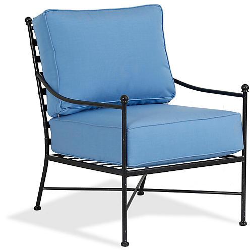 Provence Club Chair, Blue