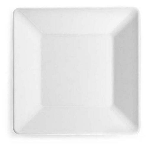 S/4 Diamond Square Melamine Bread Plates, White