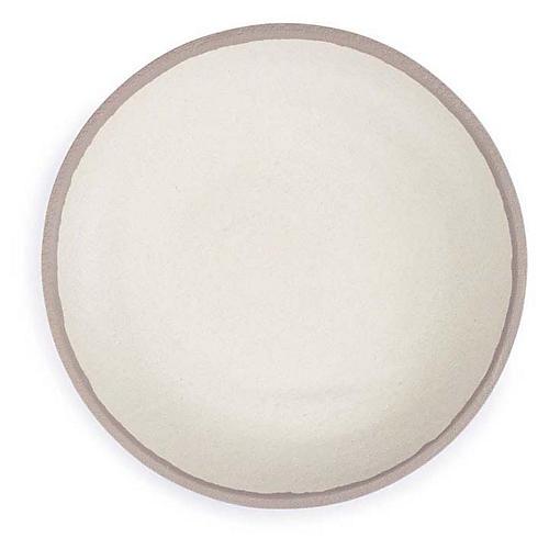 S/4 Potter Melamine Dinner Plates, Beige/Gray