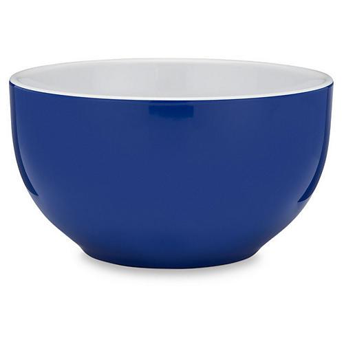 S/4 Bistro Melamine Cereal Bowls, Blue