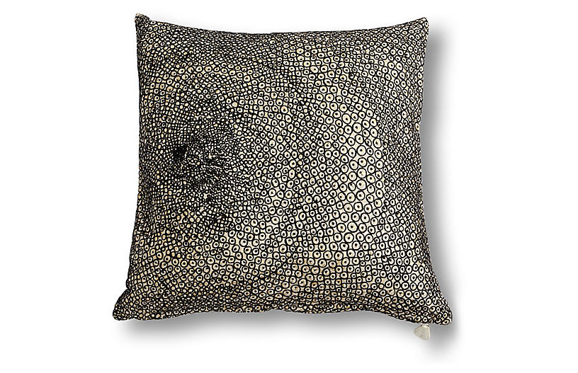 Celestial 20x20 Pillow, Black/White