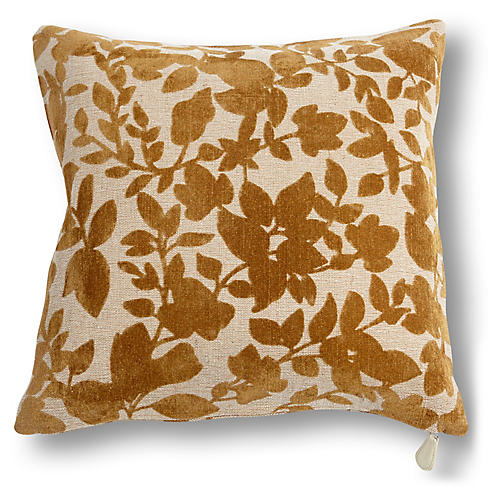 Prairie 20x20 Pillow, Rust Velvet