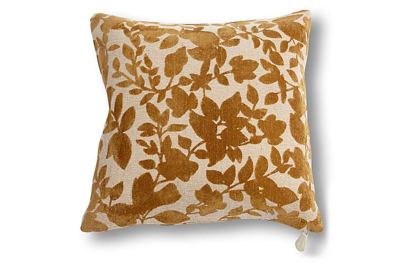 Prairie 20x20 Pillow, Rust Velvet
