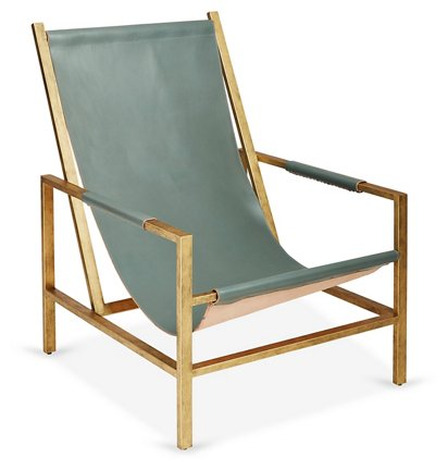 Outstanding Wright Sling Chair Bronze Storm Leather Cjindustries Chair Design For Home Cjindustriesco