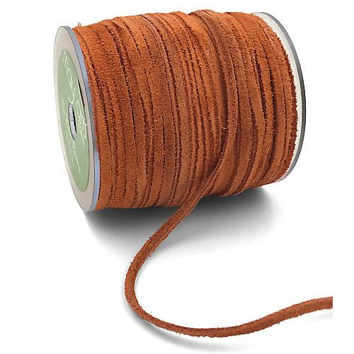 "1/8"" Suede Cord Ribbon, Burnt Orange"
