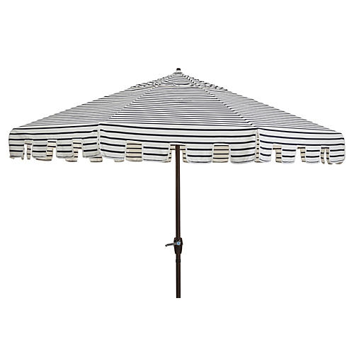 Poppy Patio Umbrella, Indigo/White