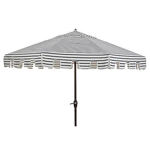 Poppy Patio Umbrella, Indigo/White