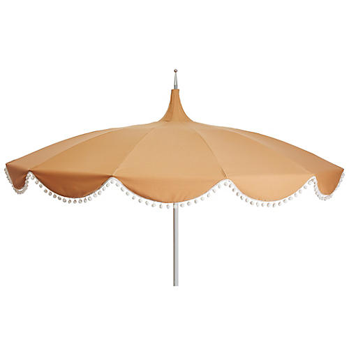 Dani Pom-Pom Patio Umbrella, Wheat