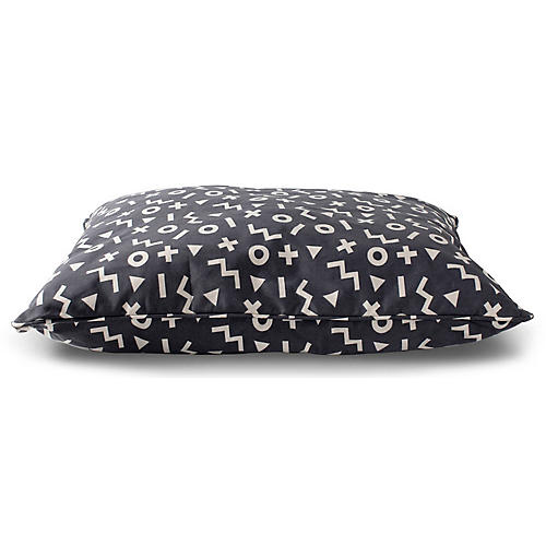 XO Pillow Pet Bed, Dark Gray/White