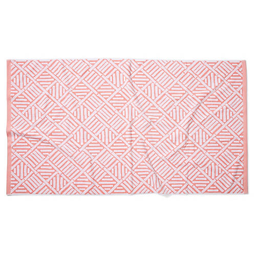 Bamboo Lattice Beach Towel, Blush