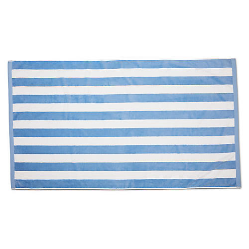 Classic Cabana Stripe Beach Towel, Powder Blue