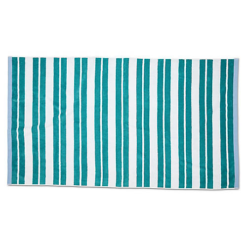 Meadow Lane Beach Towel, Teal