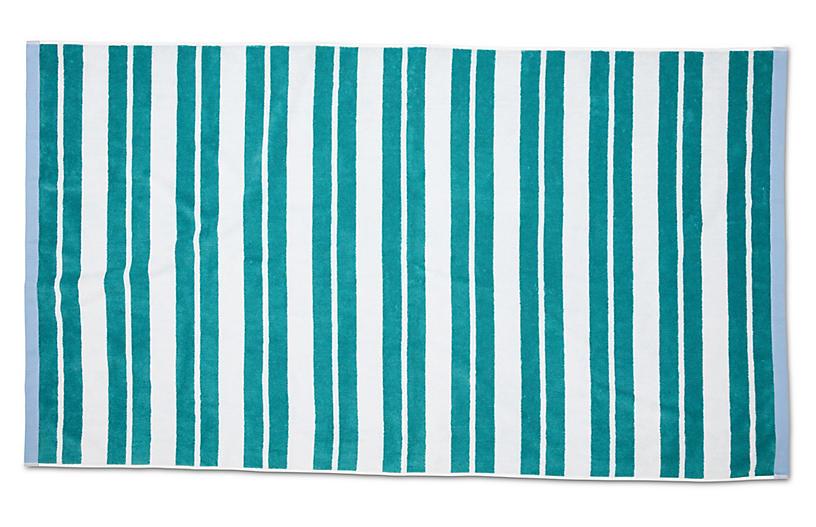 Meadow Lane Beach Towel, Teal