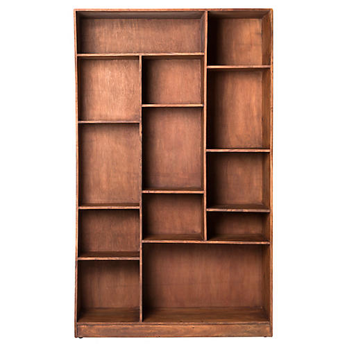 Carver Right Bookcase, Dark Amber