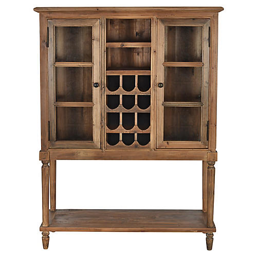 Justin Wine Cabinet, Fir