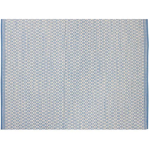 Stellina Flat-Weave Rug, Blue