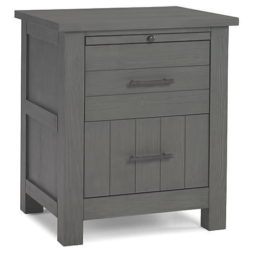 Channing Nightstand, Nantucket Gray