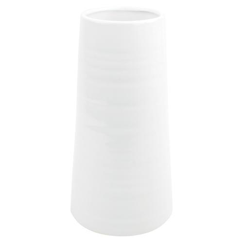 "11"" Morandi Table Vase, White"
