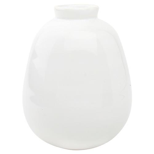 "5"" Morandi Tall Bud Vase, White"