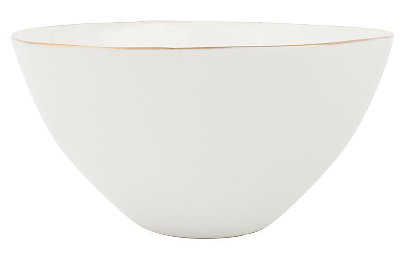 S/4 Abbesses Bowls, White/Gold