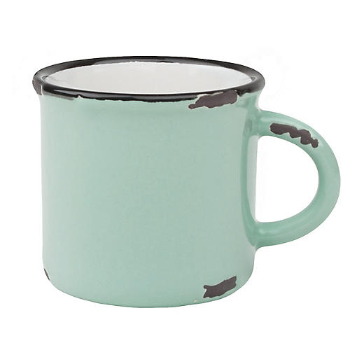 S/4 Tinware Espresso Cups, Green