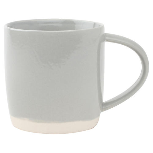 S/4 Shell Bisque Mugs, Gray