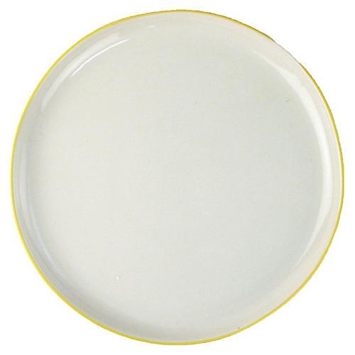 S/4 Abbesses Salad Plates, White/Yellow