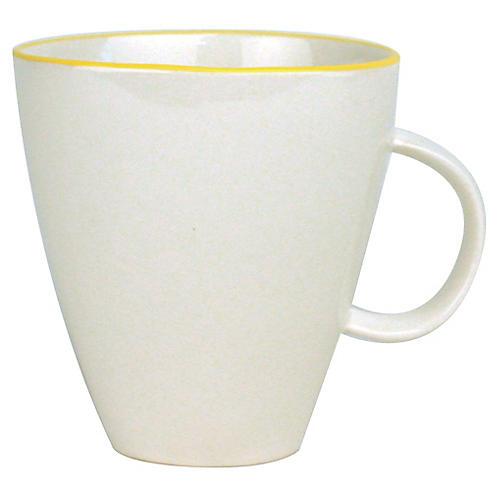 S/4 Abbesses Mugs, White/Yellow