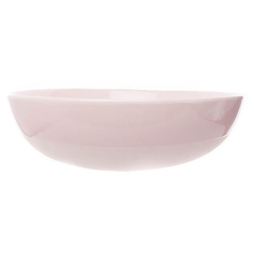 Shell Bisque Round Serving Bowl, Soft Pink