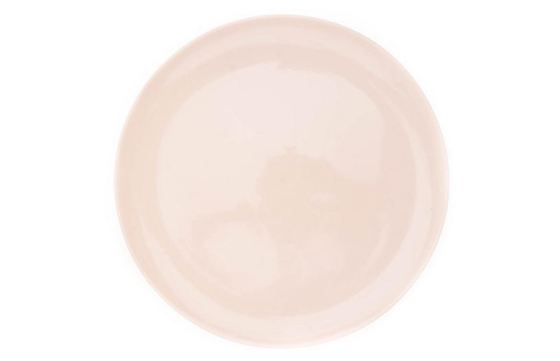 S/4 Shell Bisque Dinner Plates, Soft Pink