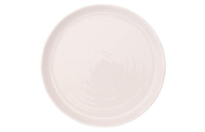 S/4 Pinch Dinner Plates, White