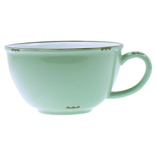 Tinware Latte Cup, Pea Green