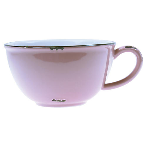 Tinware Latte Cup, Pink